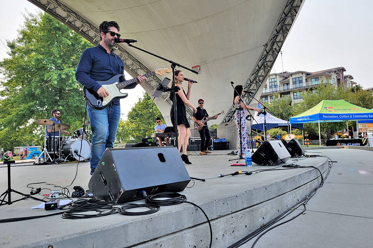Side One was the final act at the Summer Beats finale in Langley City's Douglas Park on Saturday, Aug. 14.(Dan Ferguson/Langley Advance Times)