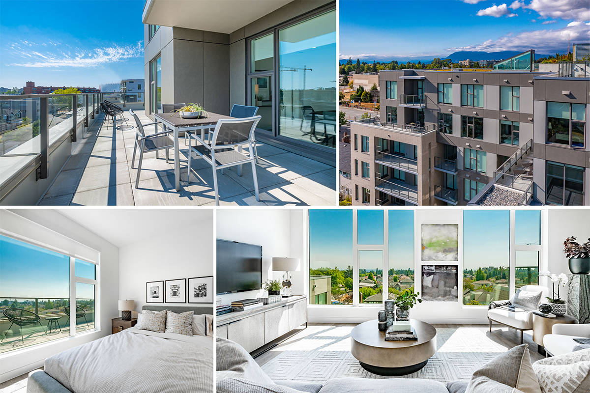 A cabin in the sky! One of this year's Grand Prize homes is a sub-penthouse condo in Vancouver's exciting, growing Oakridge neighbourhood – and it features 634 sq. ft. of balcony space.