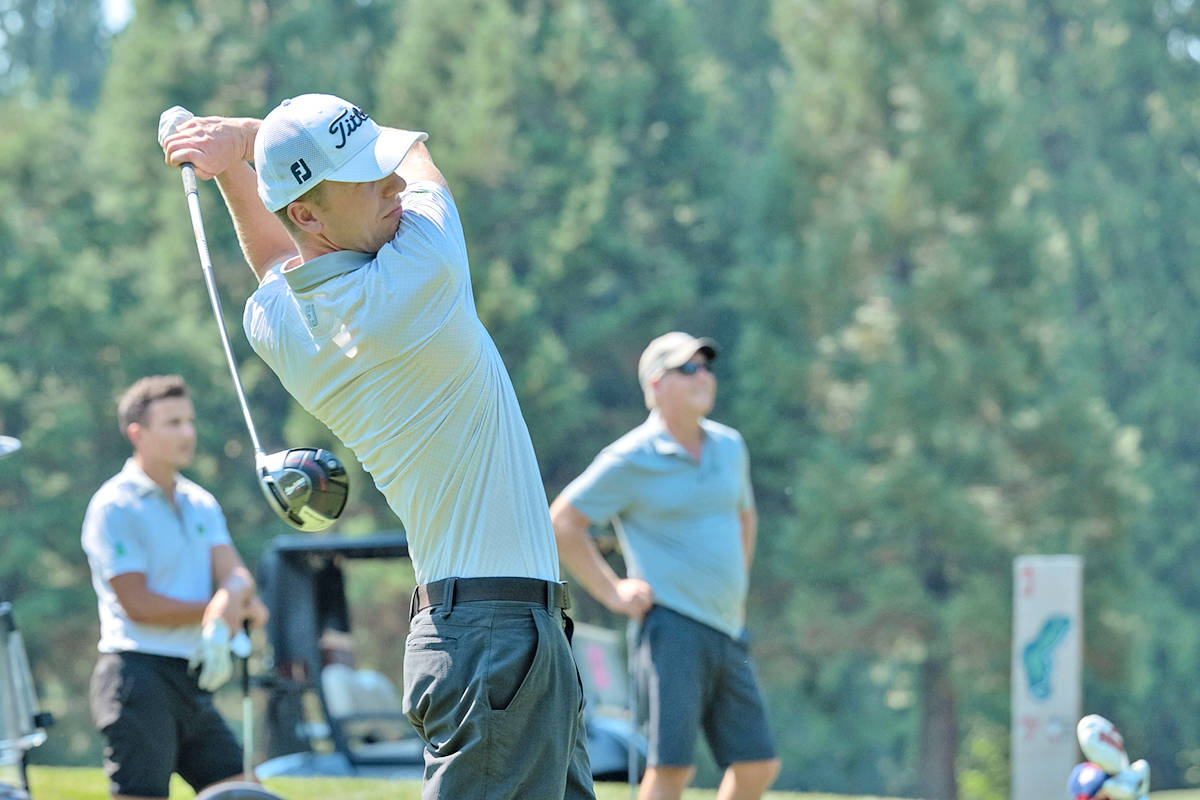 At the 25th annual Langley Memorial Hospital Foundation Charity Golf Tournament on Aug. 12, players could challenge the champ - go up against University of Fraser Valley's nationally-acclaimed golf team. (C.K. Wright Photography/special to Langley Advance Times)