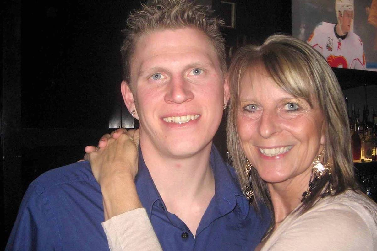 Murder victim Bradley McPherson with his mother, Susan Simning, prior to McPherson's death in 2011. (File photo)