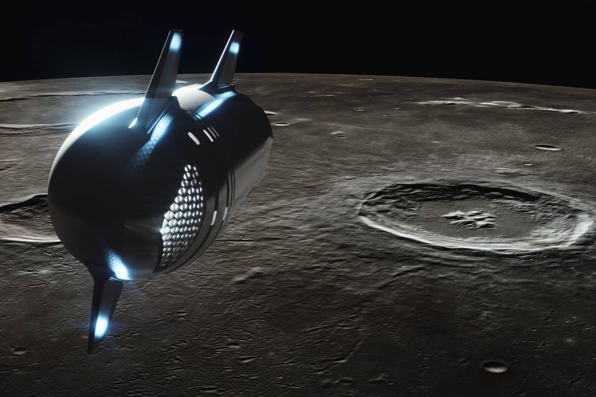A SpaceX rocket will take eight lucky people to the moon in 2023, and Vancouver artist Boris Moshenkov hopes to be one of them. (SpaceX/Yusaku Maezawa Twitter photo)