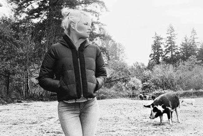 Pamela Anderson at the Rescue And Sanctuary for Threatened Animals in Chemainus. (Photo submitted)