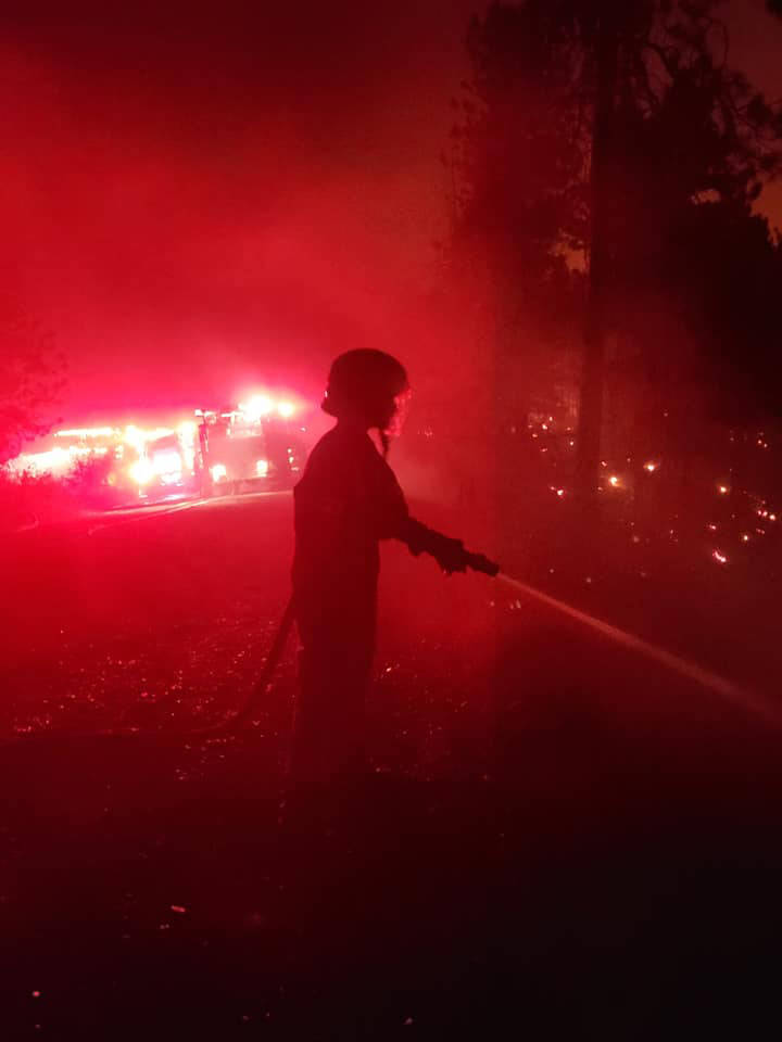 Jason Satterthwaite and his 16-year-old son, Aiden, fought on the frontlines of the White Rock Lake wildfire together for the Okanagan Indian Band Fire Department. (Jason Satterthwaite - Facebook)