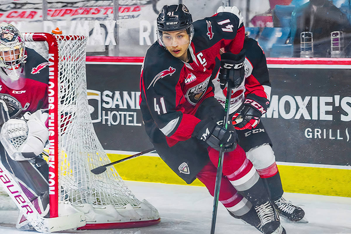 Vancouver Giants captain Alex Kannok Leipert has signed a professional contract with the AHL's Abbotsford Canucks (Giants file)