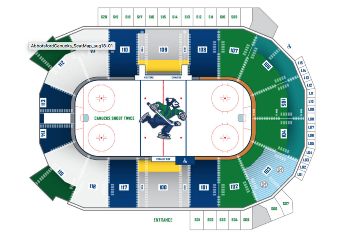 The Abbotsford Canucks have released season ticket pricing for the team's inaugural season. (Canucks photo)