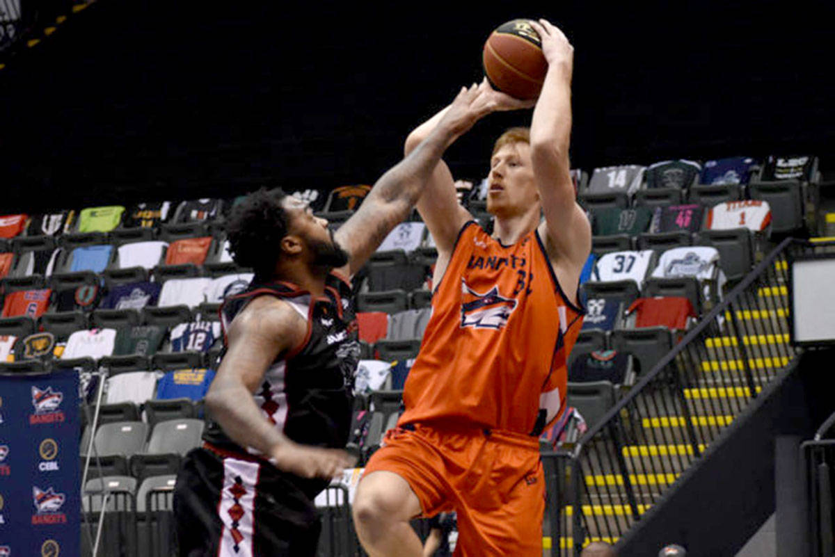Brandon Gilbeck of the Fraser Valley Bandits was named the Canadian Elite Basketball League's Defensive Player of the Year on Aug. 18. (Ben Lypka/Abbotsford News)