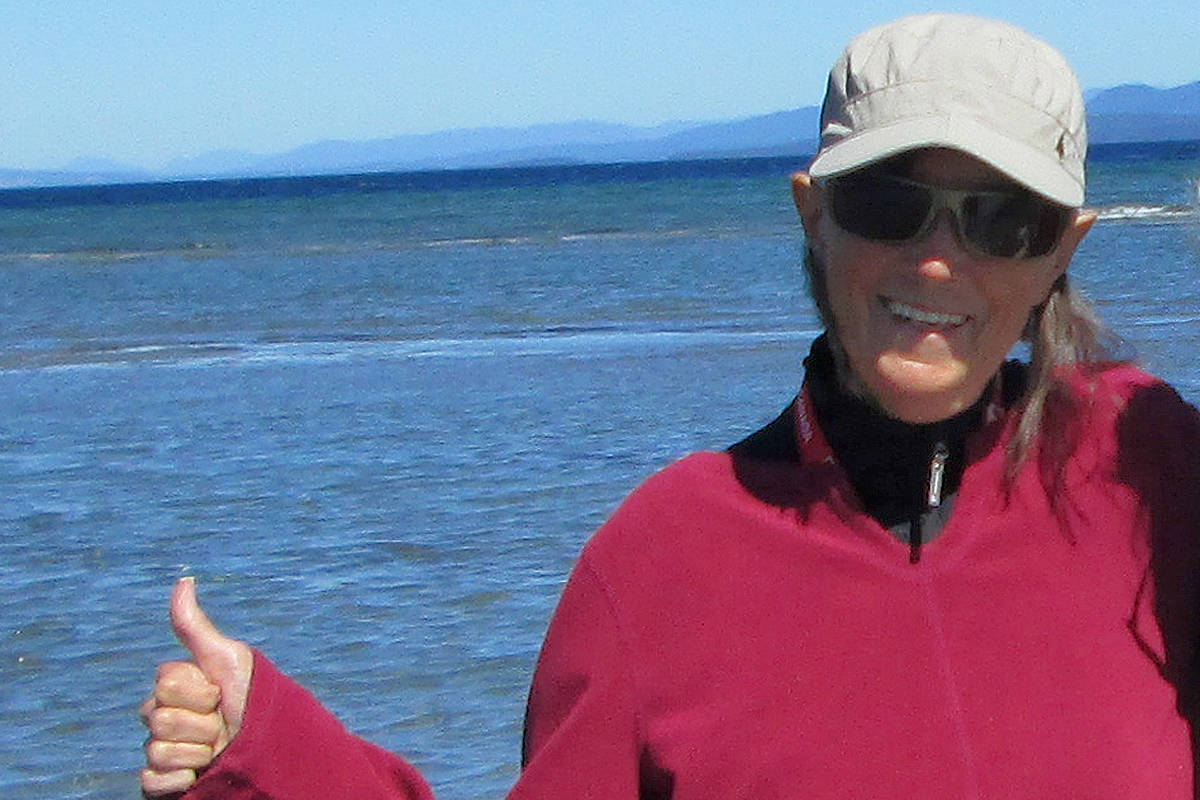 Maureen Terrey at Parksville Beach during her August 2021 vacation. (Submitted photo)