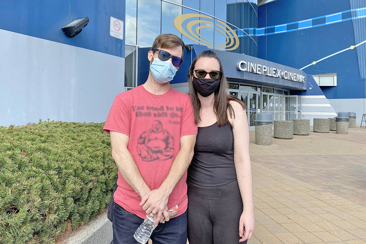Veikko Gladstone and Rebecca Samuelson live in the Aldergrove area and took advantage of the pop-up vaccination clinic in Walnut Grove to get their shots. (Joti Grewal/Langley Advance Times)