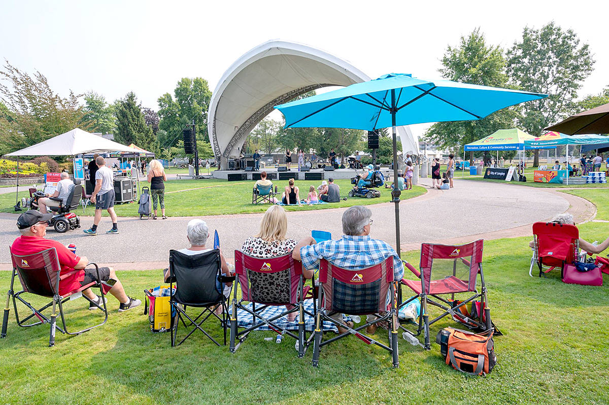 """Last weekend was the end of Pick Up Picnics and the Downtown Langley Business Association celebrated a """"successful"""" seven weeks with a Pick Up Picnic lunch and a concert in Douglas Park, said executive director Teri James. (CK Wright Photography/Special to Langley Advance Times)"""