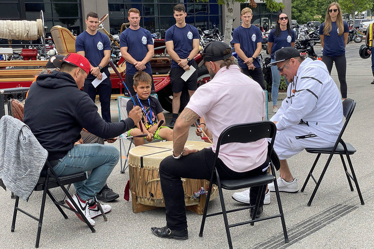 2021 Ride to Recovery made a pit stop at Barnes Harley Davidson in Langley on Aug. 19, 2021. The event was held in an effort to raise awareness about PTSD. (Joti Grewal/Langley Advance Times)