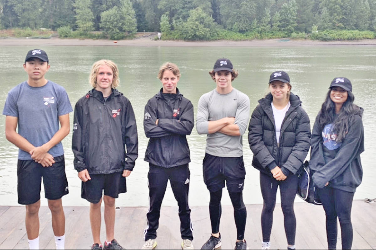 Members of the Fort Langley Canoe and Kayak Club competed at the provincials in Burnaby recently. (F