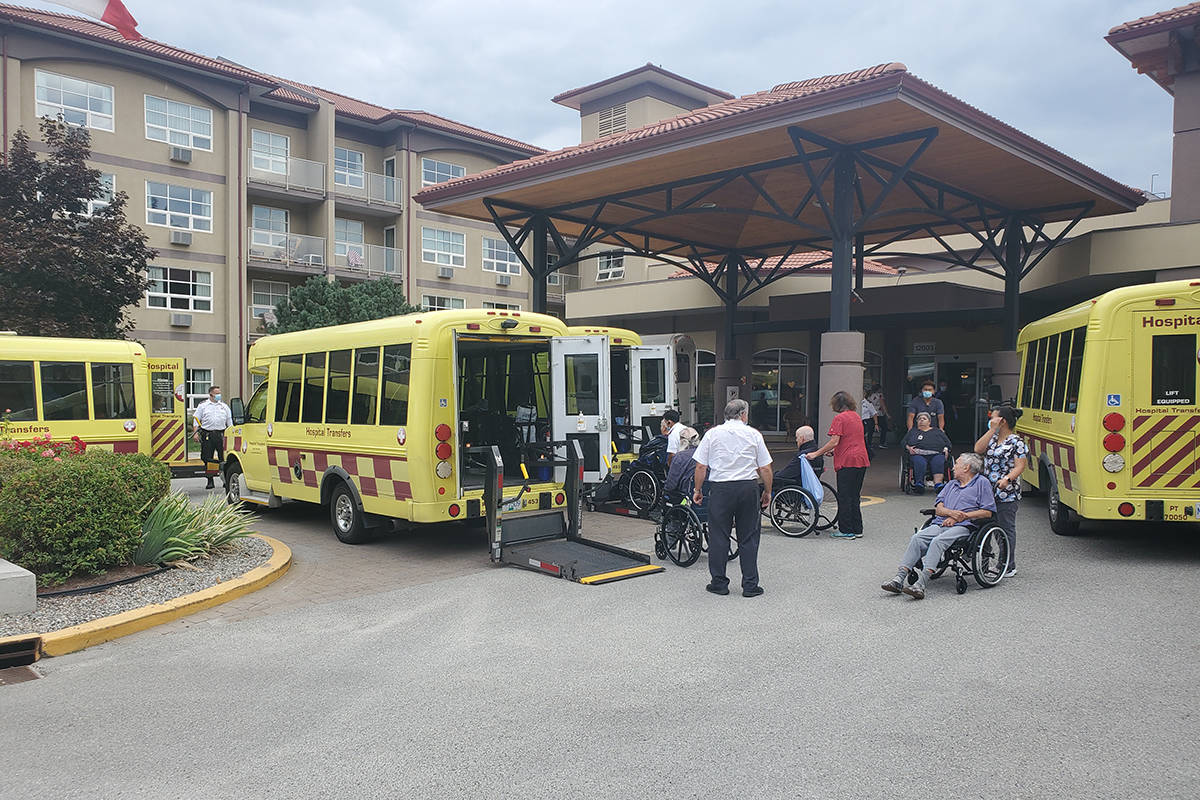 Hospital Transfer crews move patients around while sorting out constantly changing logistics during wildfire season. (Submitted)