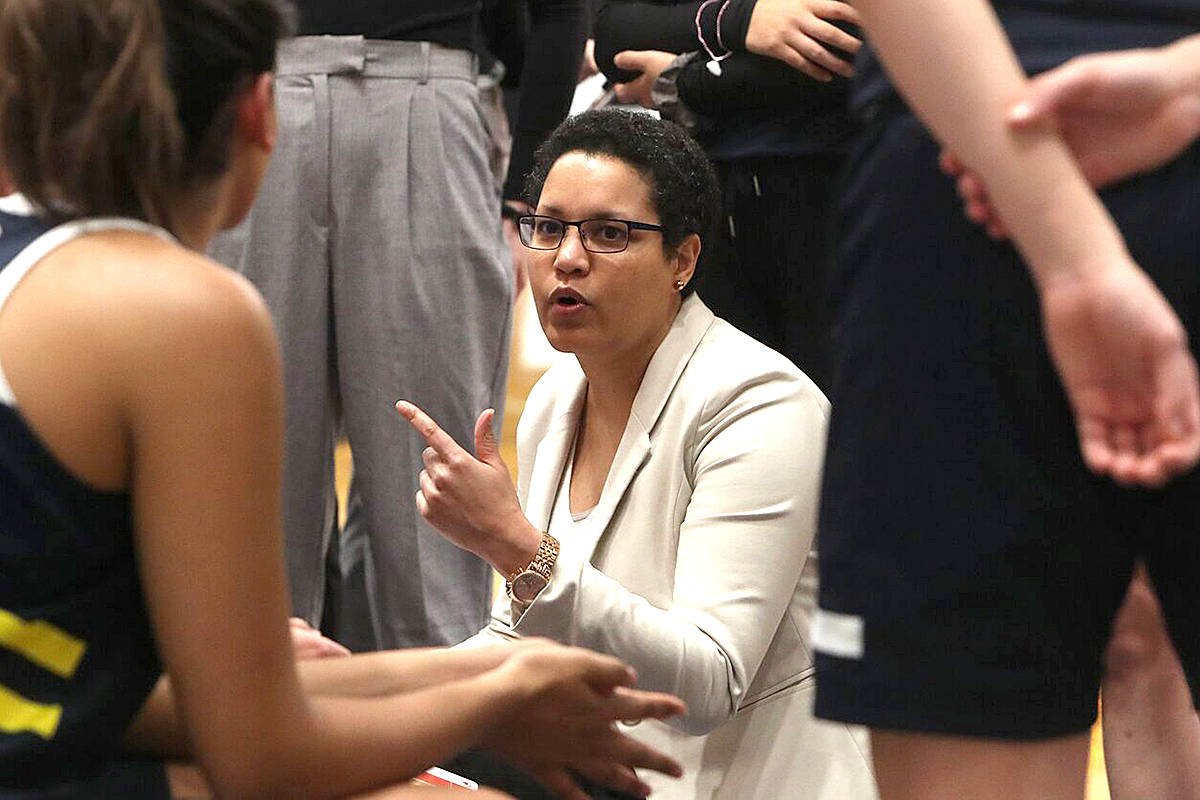 Cheryl Jean-Paul returns to Langley after the tournament, to lead the Spartans women's basketball team again. (TWU/Special to Langley Advance Times)