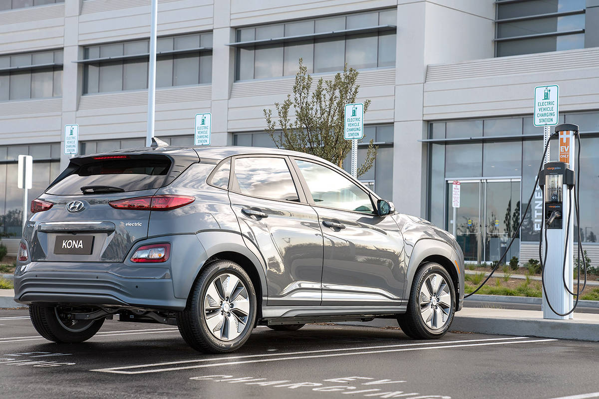 With more EV range comes longer charge times. The trick is that once the Kona Electric is fully charged, keep it topped up the same way you keep your cell phone fully charged. Do that and very rarely will the vehicle require nine-plus hours for a full charge using a 240-volt Level 2 home station. PHOTO: HYUNDAI