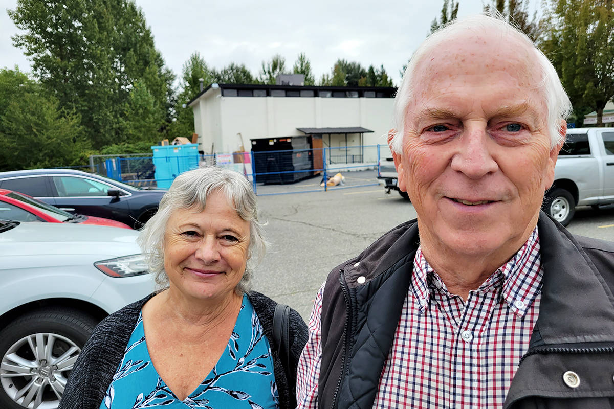 Barb and Don Day came from Abbotsford for the third annual giant Aldergrove garage sale held on Saturday, Aug. 22. (Dan Ferguson/Langley Advance Times)