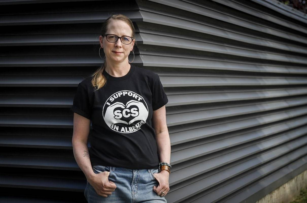 Rebecca Haines-Saah, an assistant professor of community health sciences at the University of Calgary, poses for a photo on Thursday, Aug. 12, 2021. THE CANADIAN PRESS/Jeff McIntosh