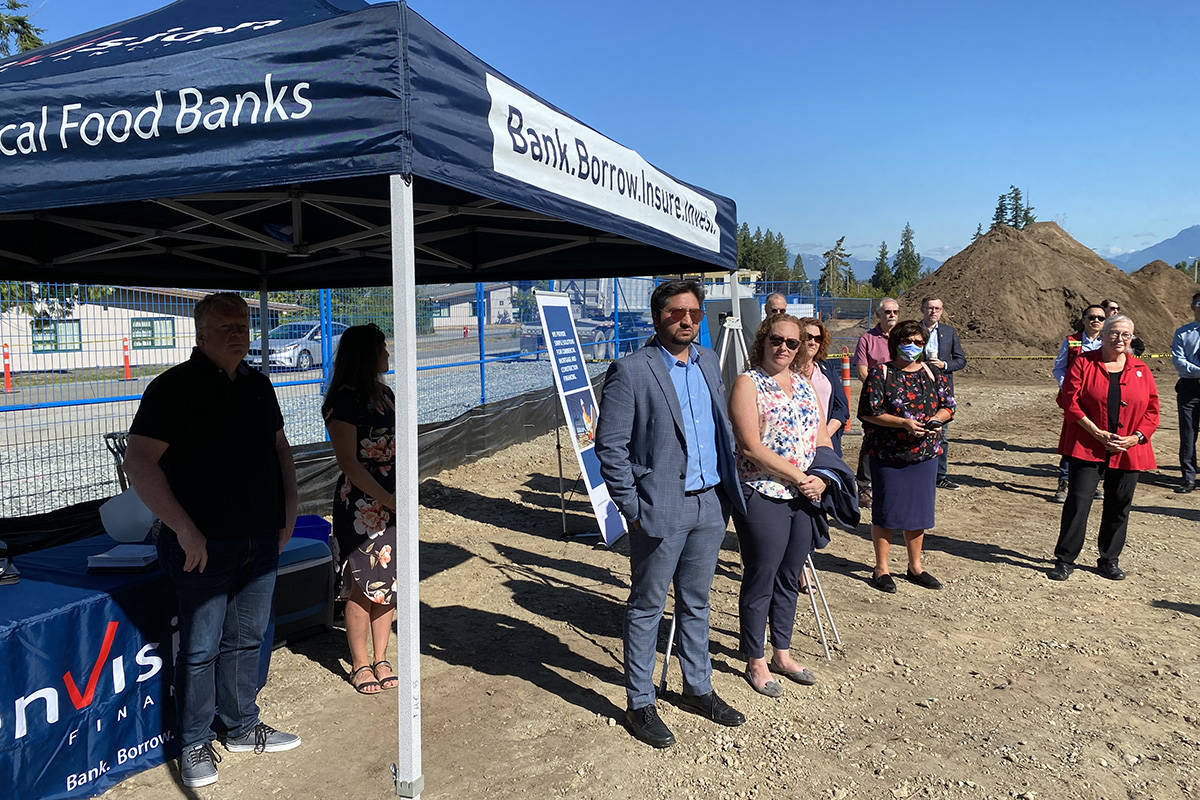 Ground breaking of hospital foundation seniors housing project in Murrayville on Aug. 24, 2021. (Joti Grewal/Langley Advance Times)