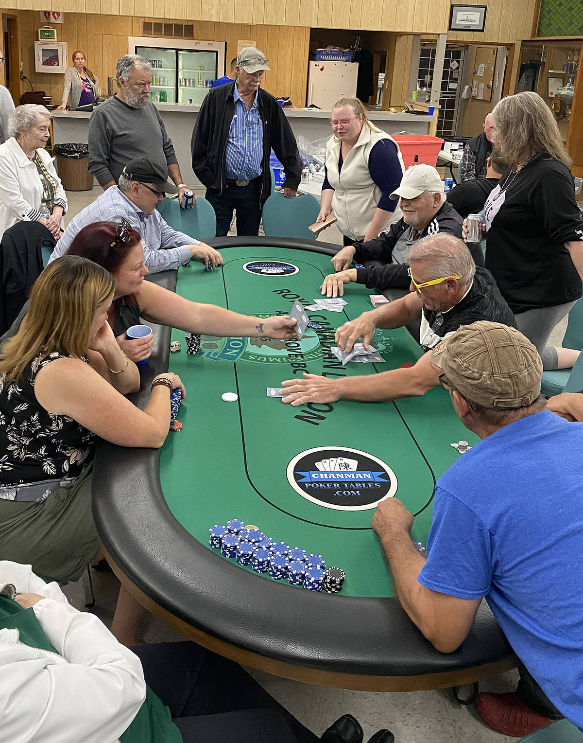 A few dozen poker enthusiasts participated in last Saturday's Mangat poker tournament held at the legion in Aldergrove. It is an annual fundraiser for cancer. (Special to The Star)