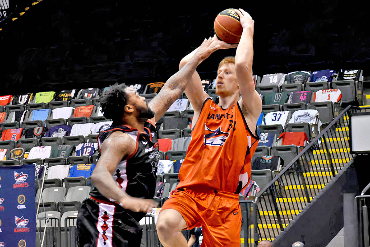 Brandon Gilbeck of the Abbotsford-based Fraser Valley Bandits was named the Canadian Elite Basketball League's Defensive Player of the Year on Aug. 18. Rumours are swirling about a possible relocation of the pro team to Langley. (Black Press Media file)