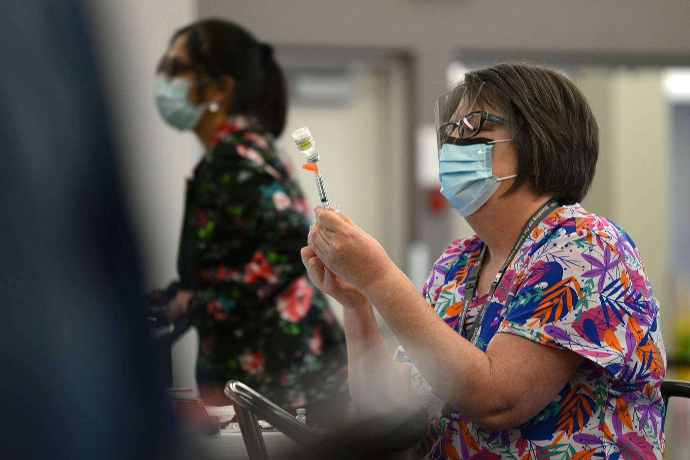 Vaccine clinics will be busy as thousands of British Columbians sign up for their first dose in wake of B.C. vaccine card announcement. (Phil McLachlan/Kelowna Capital News)