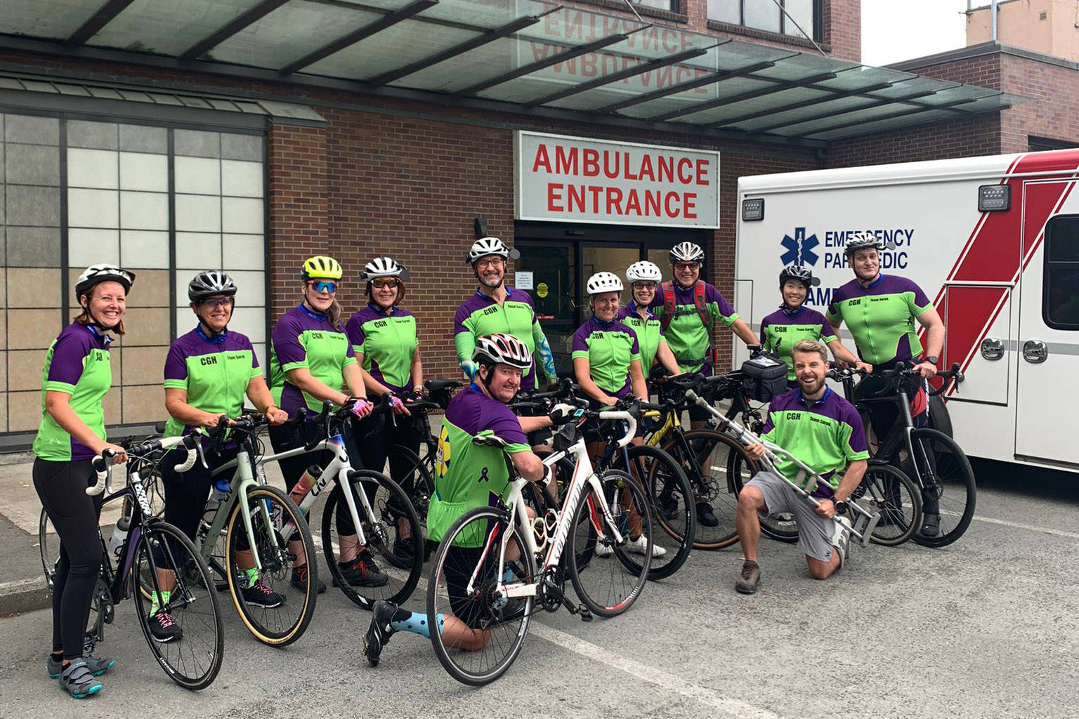 Members of Team Sarah outside Chilliwack General Hospital. (Submitted)