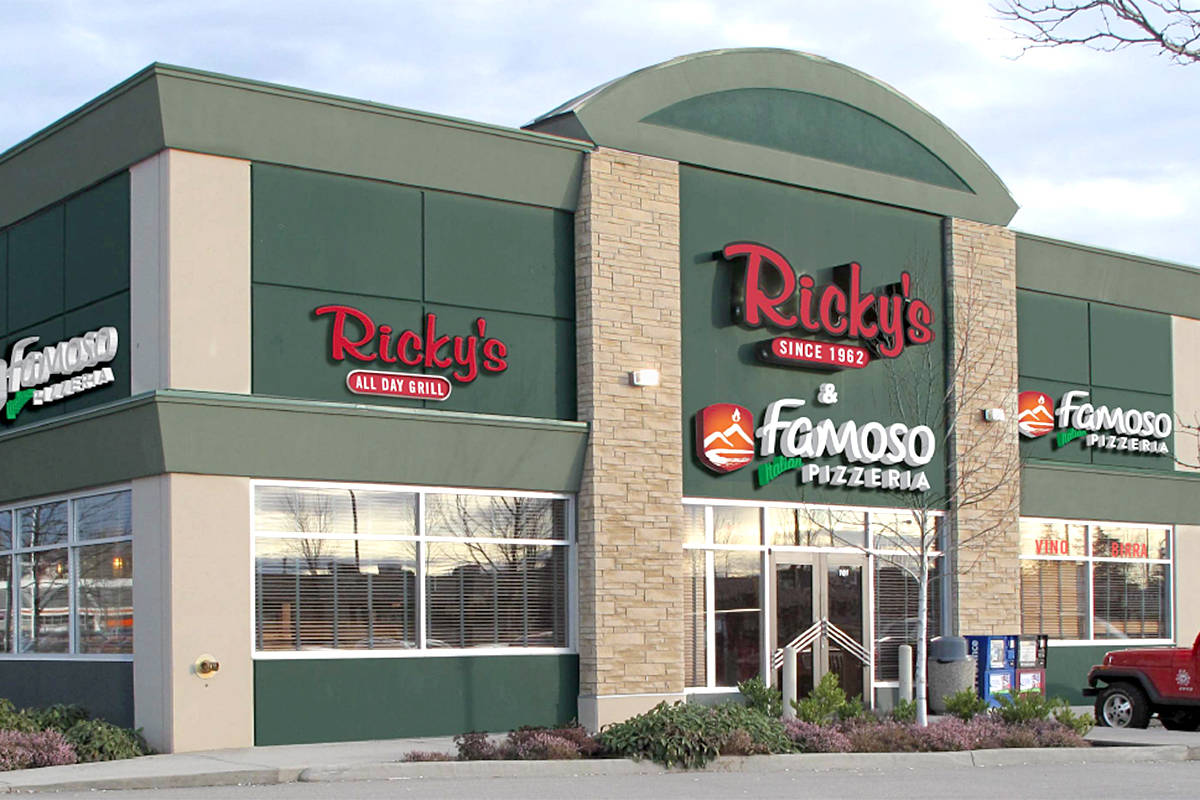 Right below the Ricky's sign, a new has appeared. The 64th Avenue restaurant now has a Famoso Pizzeria sign, as well. (Special to Langley Advance Times)