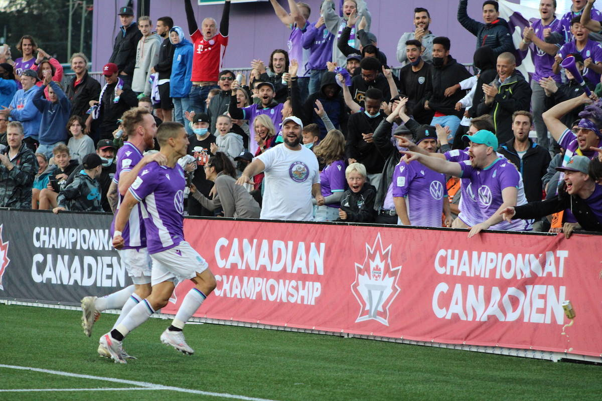 Pacific FC shined in a historic win over the Vancouver Whitecaps in Langford on Aug. 26. They'll now advance to the Canadian Championship quarterfinals. (Jake Romphf/News Staff)