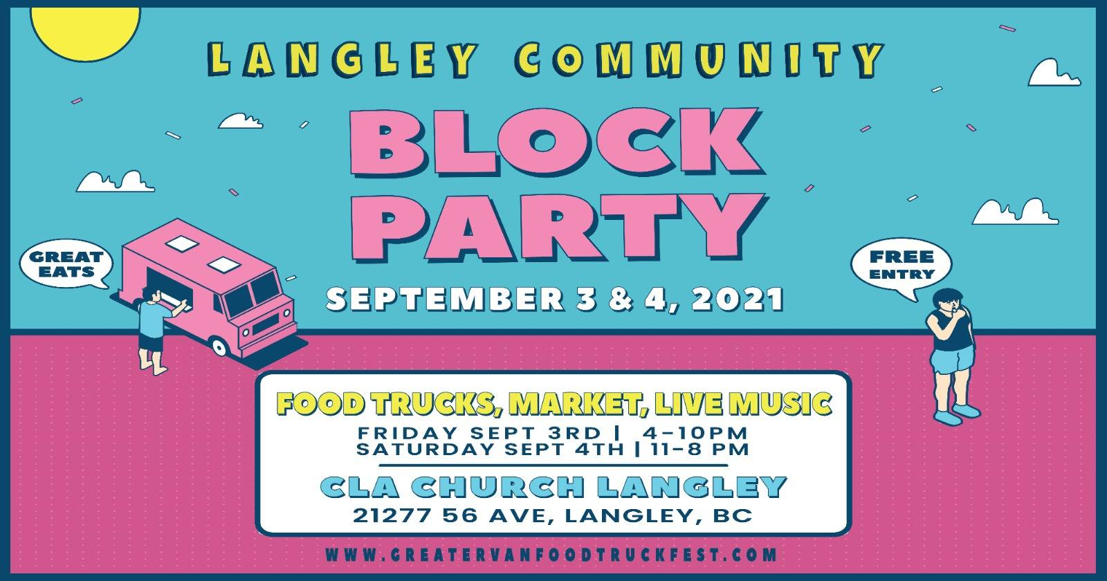 Greater Vancouver Food Truck Festival is coming to Langley Sept. 3 and 4, 2021. (GreaterVanFoodTruckFest/Facebook)