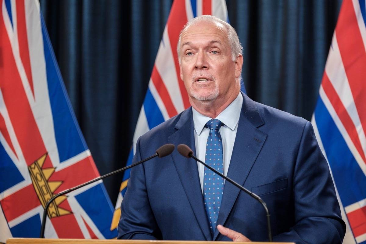 B.C. Premier John Horgan announces proof of vaccination program for B.C. restaurants, bars and other venues, at the B.C. legislature, Aug. 23, 2021. (B.C. government photo)
