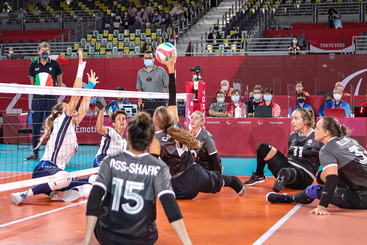 Canada defeated Italy 3-1 (25-16, 25-14, 15-25, 25-18) to even their record at 1-1 in sitting volleyball on Saunday, Aug. 29 at the Tokyo Paralympics. (World ParaVolley/special to Langley Advance Times)