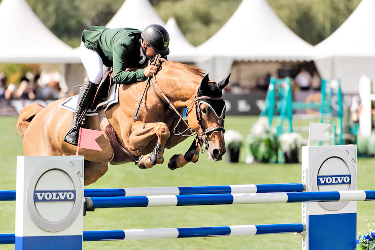 Robert Blanchette and Chardonnay won the $100,000 Volvo Canada Cup at Langley's Thunderbird Show Park on Saturday, Aug 28. (Quinn Saunders/tbird/special to Langley Advance Times)