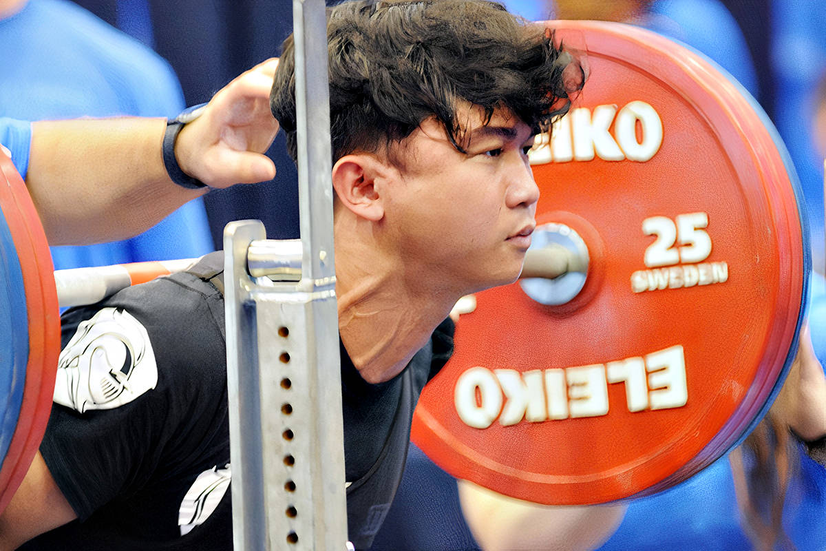 James Verano was among more than 100 lifters who took part in the Aug. 28 and 29 B.C. Powerlifting Association Open meet in Langley, the first competition in nearly two years. (Dan Ferguson/Langley Advance Times)
