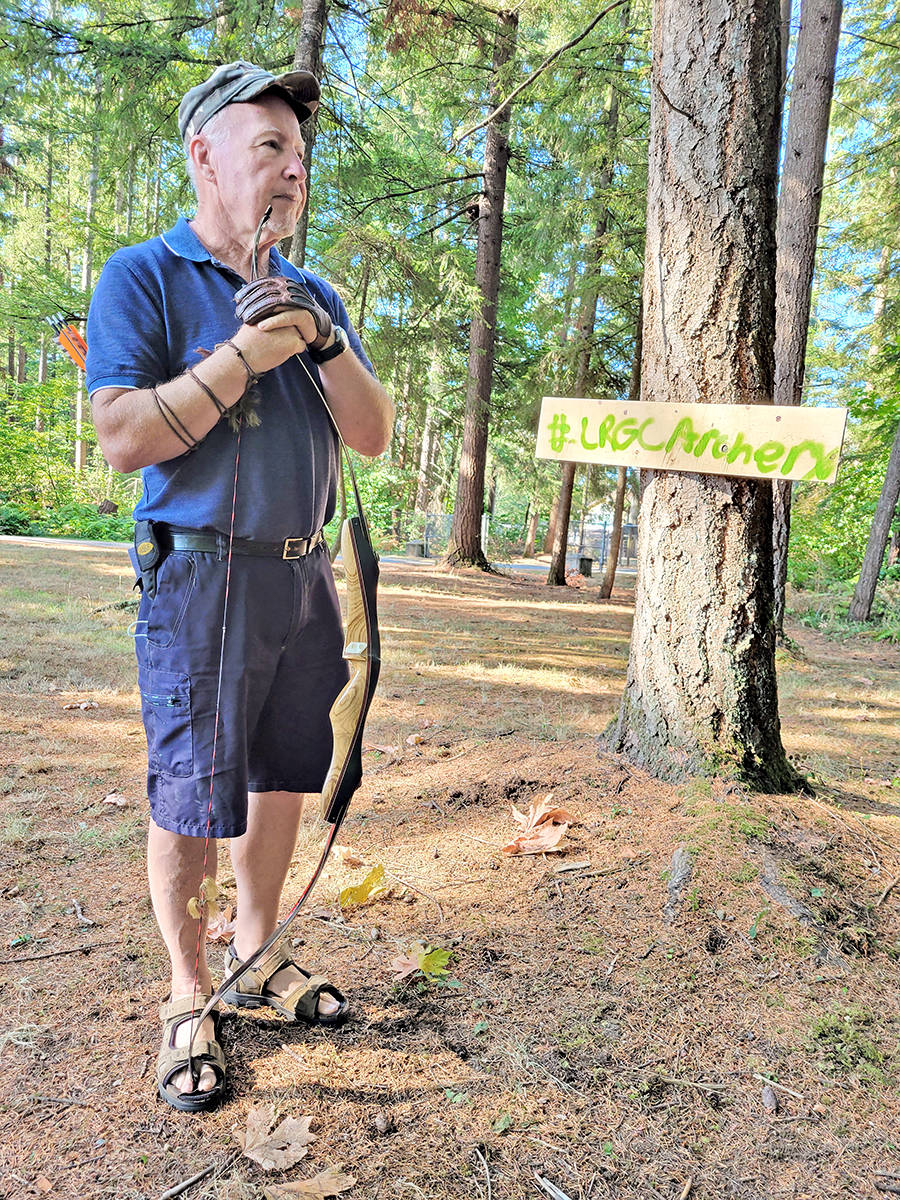 More than 100 archers signed up for a Langley Rod and Gun Cub 3D archery event that sent hunters into the woods after Styrofoam targets on Sunday, Aug. 29. (Dan Ferguson/Langley Advance Times)