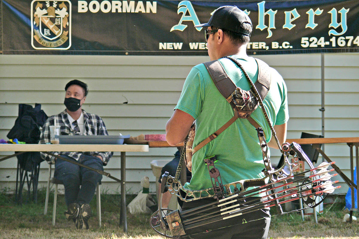 More than 100 archers signed up for a Langley Rod and Gun Cub 3D archery event that sent archers into the woods after Styrofoam targets on Sunday, Aug. 29. (Dan Ferguson/Langley Advance Times)
