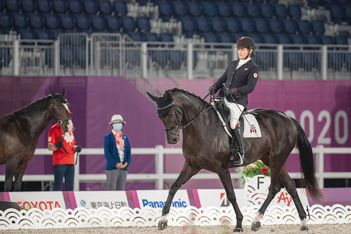 Lauren Barwick of Aldergrove and Sandrino rode to a sixth-place finish in the Individual Freestyle on Monday, Aug. 30, at the Tokyo 2020 Paralympic Games in Japan. (Jon Stroud Media/special to Langley Advance Times)