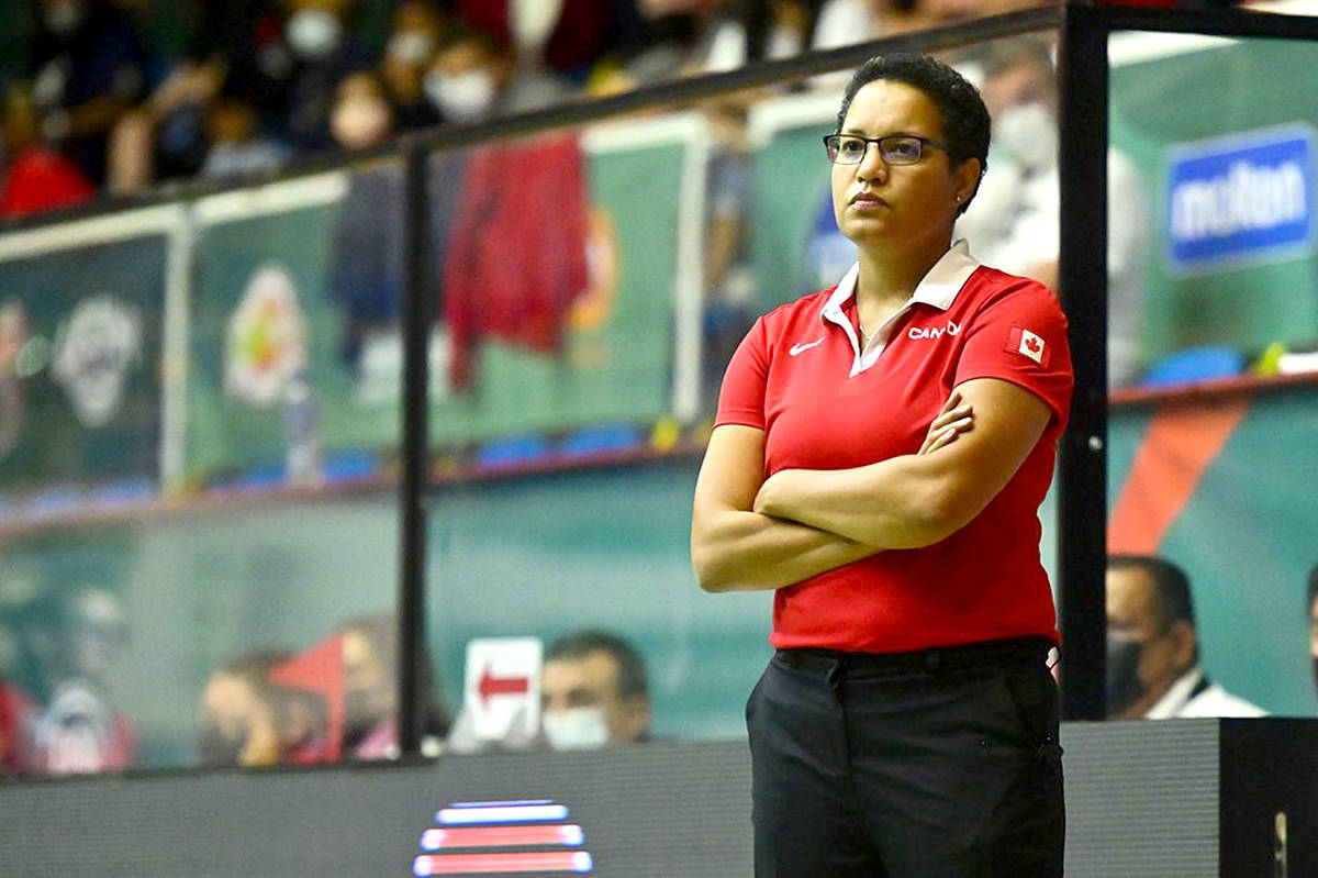 Cheryl Jean-Paul, the women's basketball coach from TWU, brought home silver from the FIBA in Mexico this weekend. (FIBA/Special to Langley Advance Times)