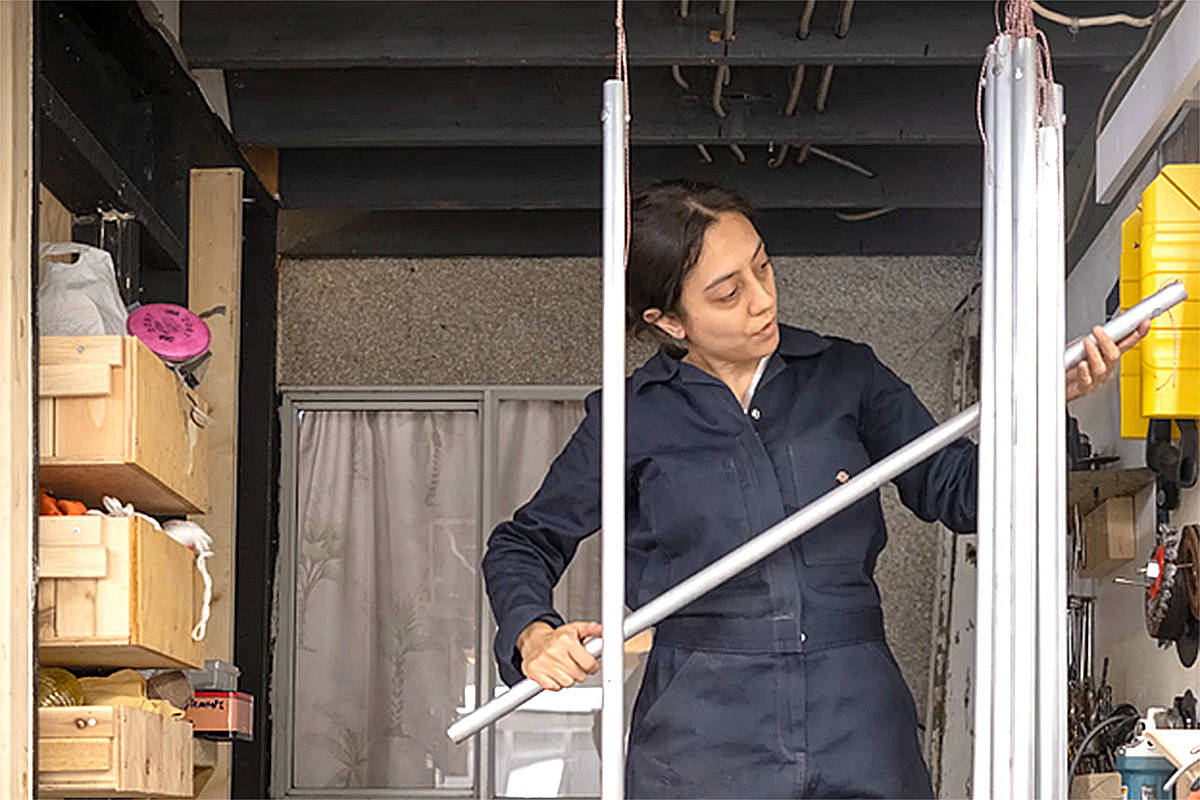 Laara Cerman spend a few months creating the new glockenspiel art sculpture that's being unveiled in Langley City Park. (Langley City/Special to Langley Advance Times)