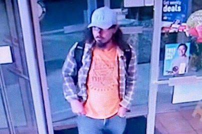 Port Alberni RCMP have released a photo from a security video of the man who urinated at the front counter of the Dairy Queen on Aug. 27, 2021, hoping someone will identify him. (PHOTO COURTESY BC RCMP)