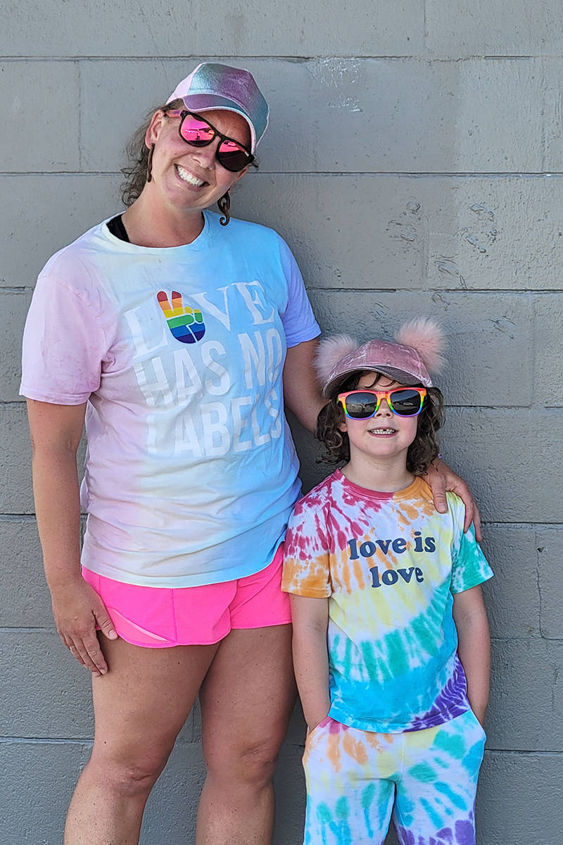 A Langley City mother and daughter were among participants in the second annual Langley Pride event held on June 27. (Dan Ferguson/Langley Advance Times)