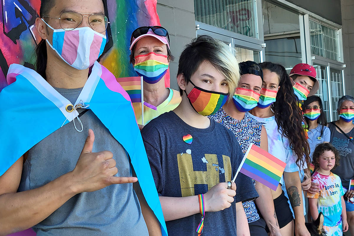 About 30 took part in the second annual Langley pride event on Sunday, June 27, up from the 12 who took part in the first year. (Dan Ferguson/Langley Advance Times)