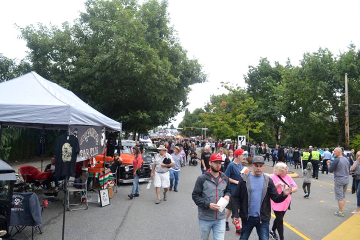 Vehicle staging is an important aspect of the Langley Good Times Cruise-In so everyone can get a good look at the vehicles. (Aldergrove Star files)
