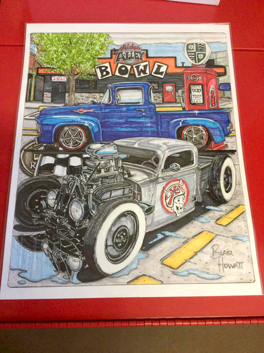 2021 Langley Good Times Cruise-In poster designed by Blair Howatt. (Special to Black Press Media)