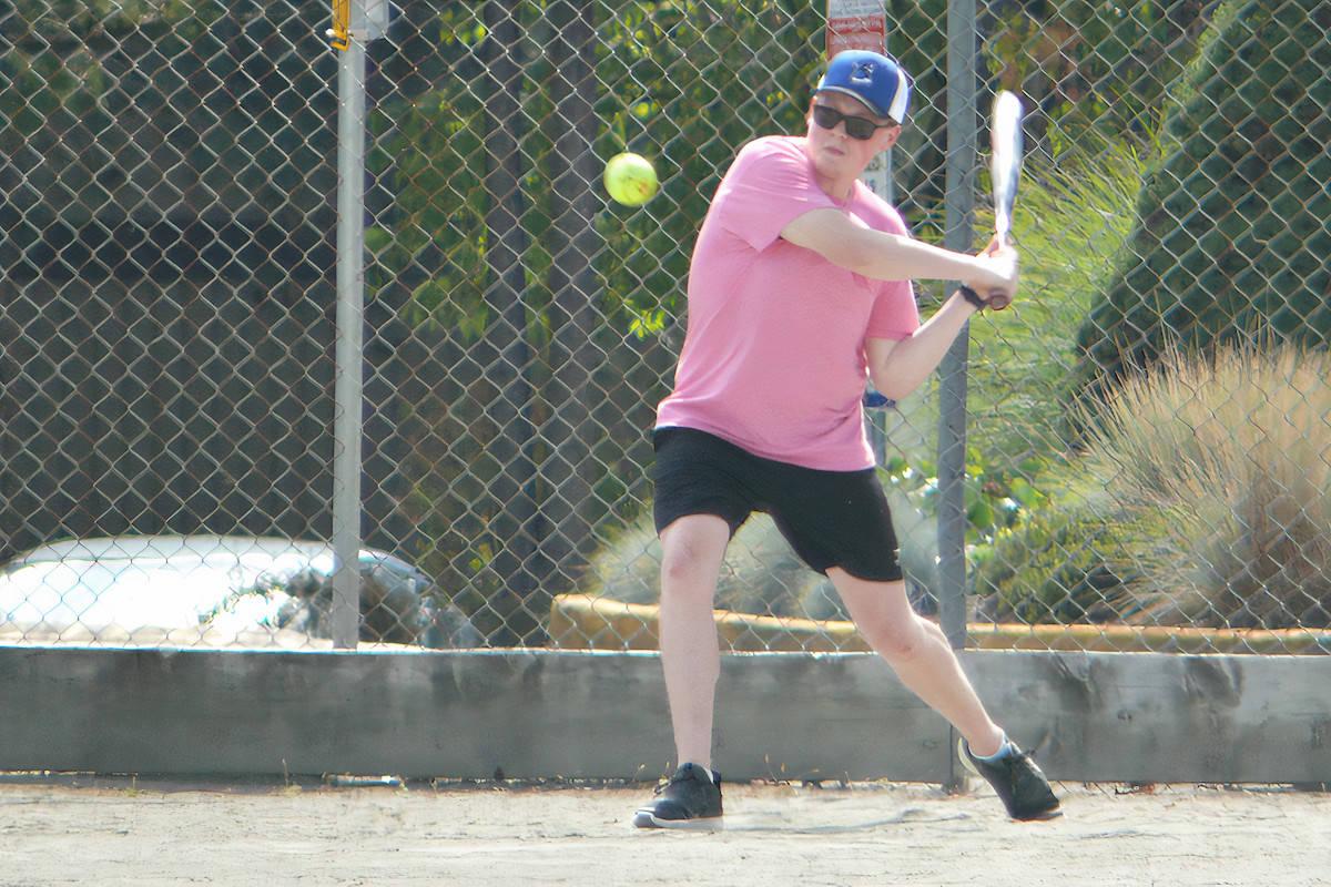 Batter up! A dozen teams took part in the first Mangat family ball tournament to battle cancer. (Dan Ferguson/Langley Advance Times)