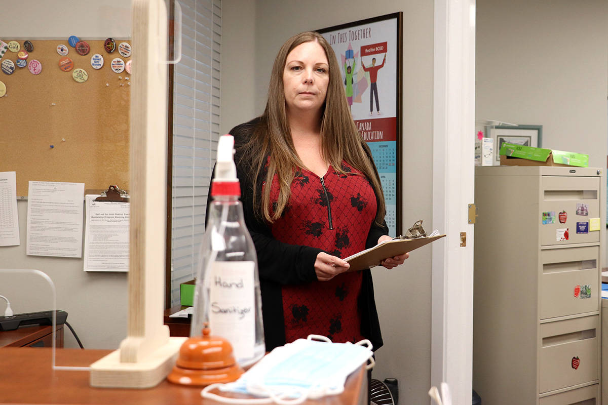 Tanya Kerr, president of the Langley Teachers' Association, has concerns about the 2021-22 school year and the safety measurse planned. (Joti Grewal/Langley Advance Times)