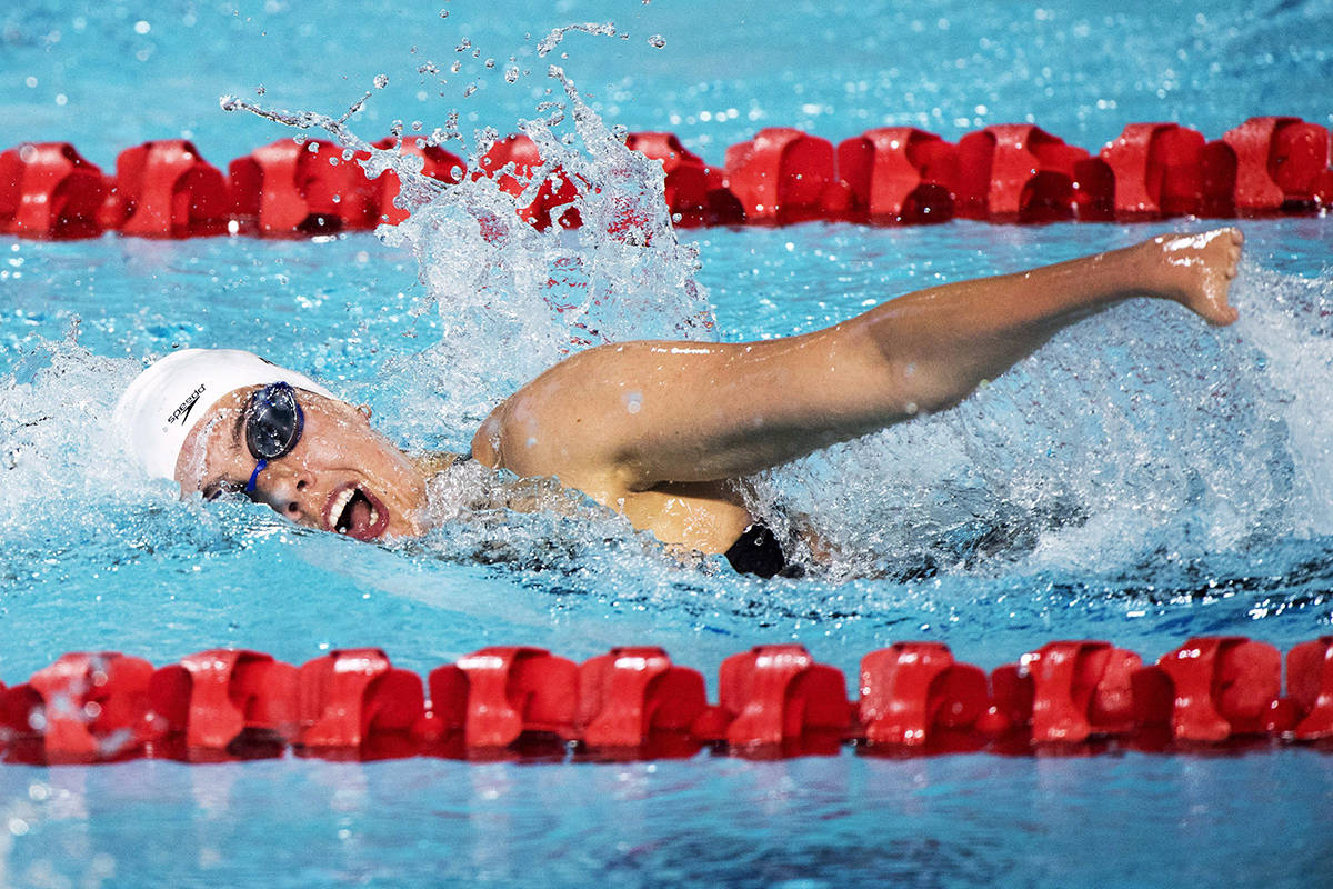 Canada's Aurelie Rivard swims her way to a silver medal for the women's SM10(Para) 200m Individual Medley during the swimming finals at the Commonwealth Games Saturday, April 7, 2018 in Gold Coast, Australia.THE CANADIAN PRESS/Ryan Remiorz