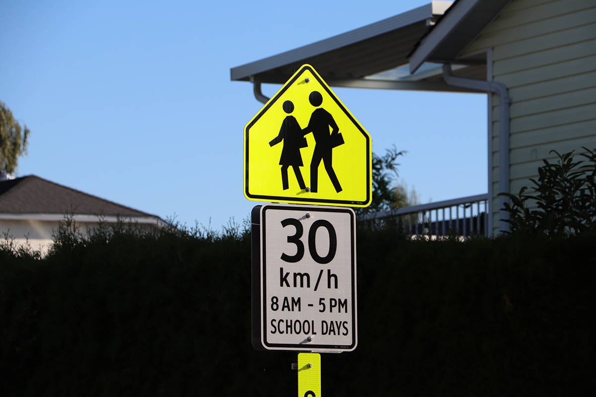A BCAA survey found 68 per cent of respondents believe school zone traffic will be more chaotic than usual this year. (Joti Grewal/Langley Advance Times)