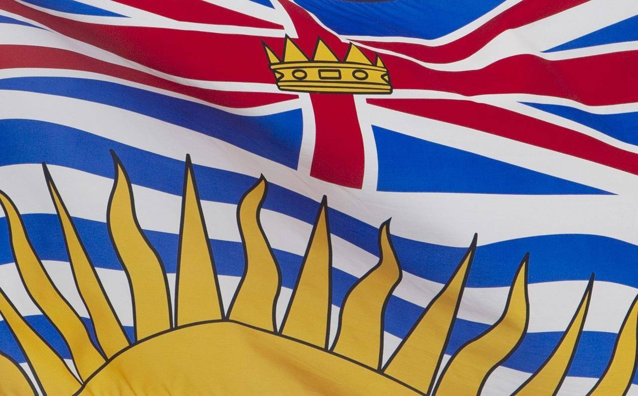 British Columbia's provincial flag flies on a flag pole in Ottawa, Friday July 3, 2020. THE CANADIAN PRESS/Adrian Wyld