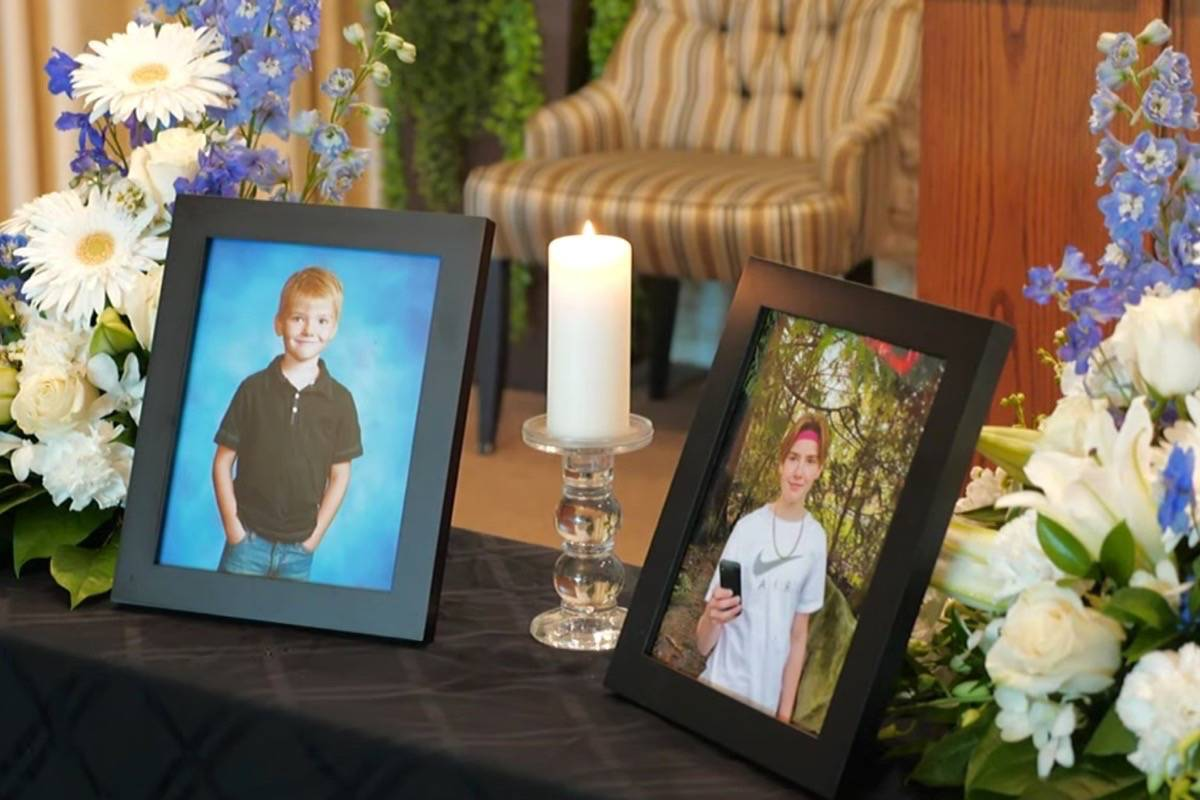 The funeral for Parker Magnuson, 17, was Wednesday, Sept. 1, 2021. Magnuson, along with Caleb Reimer and Ronin Sharma, both 16, were killed when the vehicle they were in hit a tree in the 16000-block of 104 Avenue in Fraser Heights just before 3 a.m. on Aug. 21.