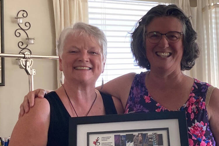 Local music teacher Cindy Taylor (left) has won an award for her work furthering music education. Photo submitted.