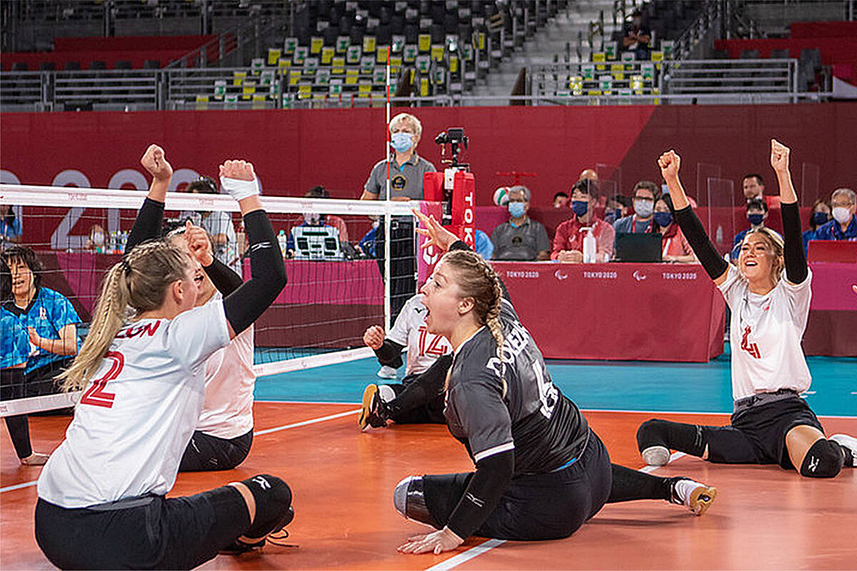 Team Canada's women's squad in sitting volleyball defeated Japan 3-0 Wednesday, earning themselves a spot in the Paralympic semifinals getting underway Friday. (Volleyball Canada/Special to Langley Advance Times)